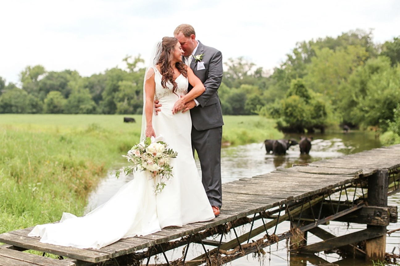 Bride and Groom take picture at Shadow Creek Weddings and Events