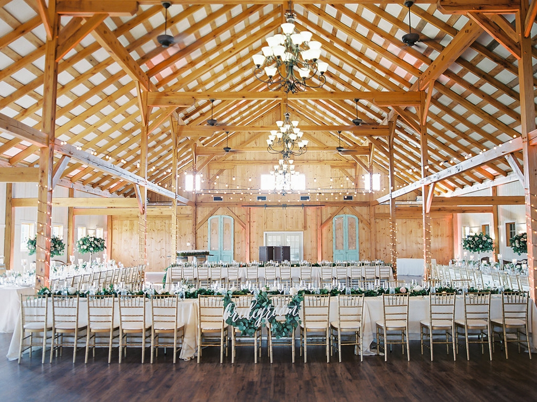 Barn wedding reception in Virginia at Shadow Creek