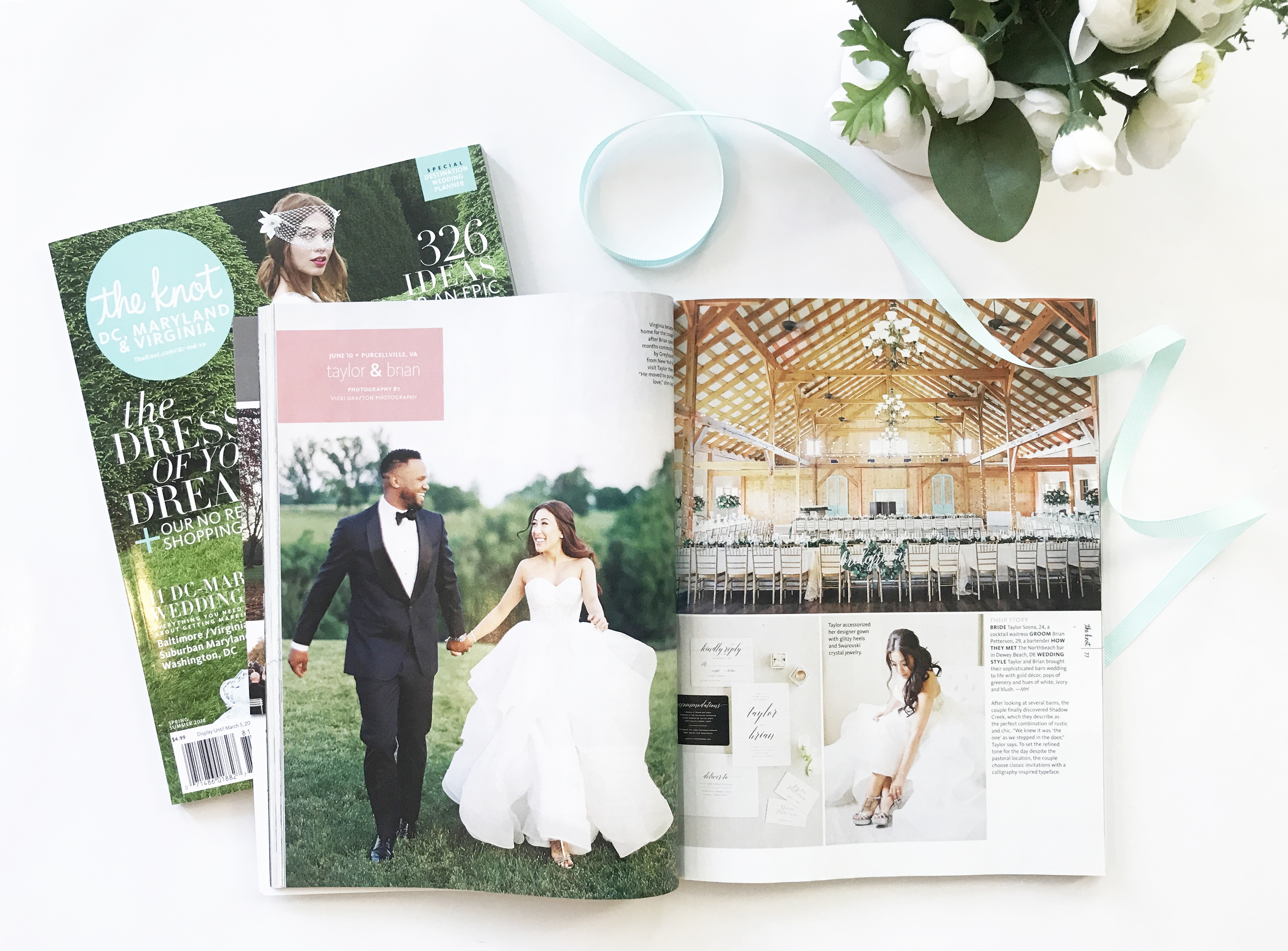 Virginia barn wedding venue, Shadow Creek, featured in The Knot