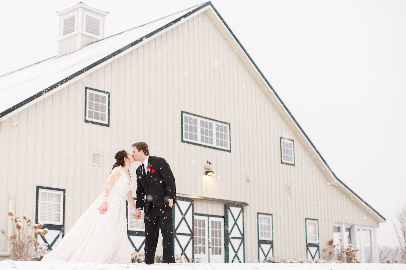 Winter wedding in Loudoun County Virginia