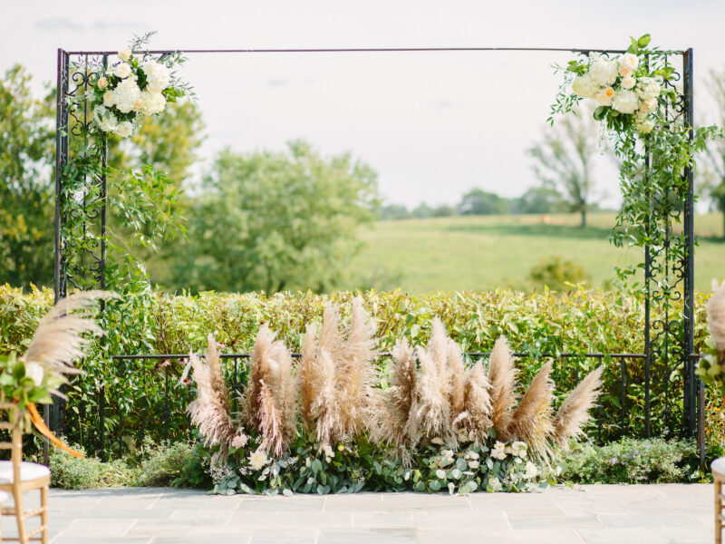 Pampas grass wedding ceremony design